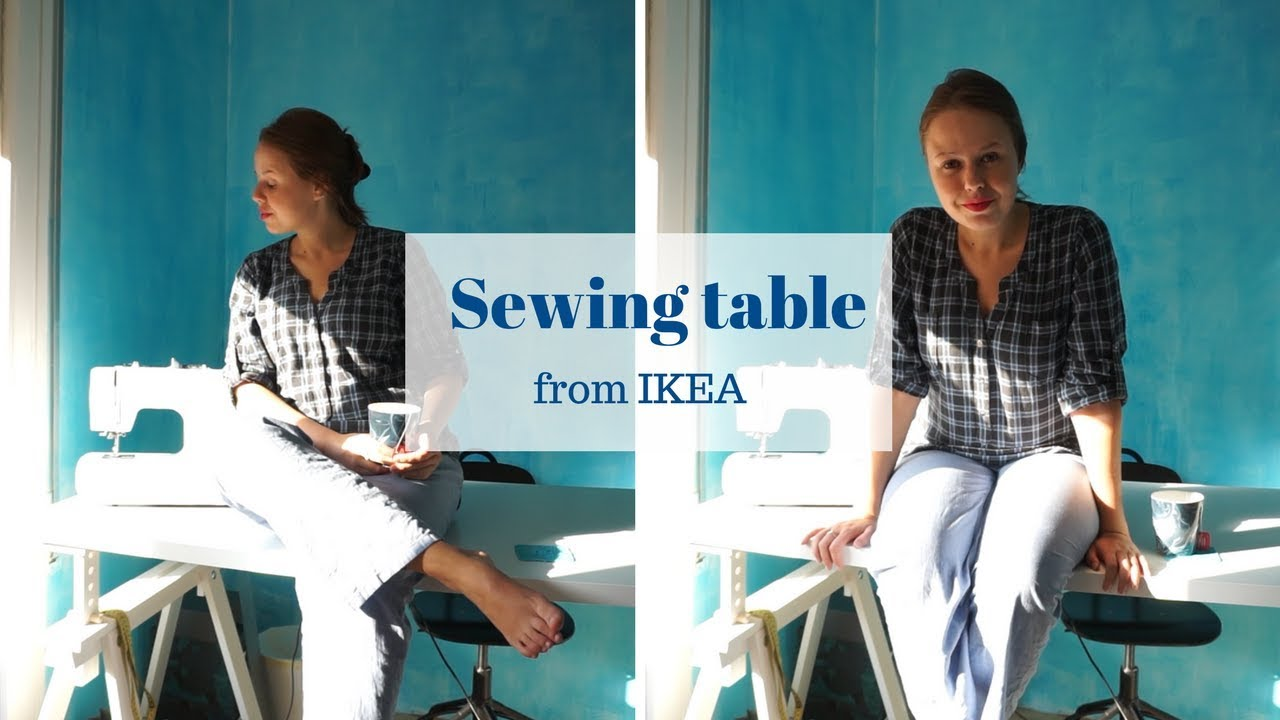 Sewing table from ikea ✁ linnmon finnvard youtube