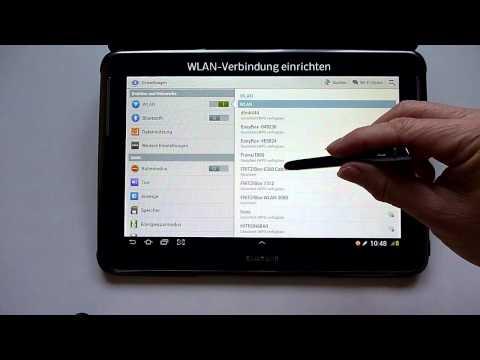 Tablet WLAN einrichten