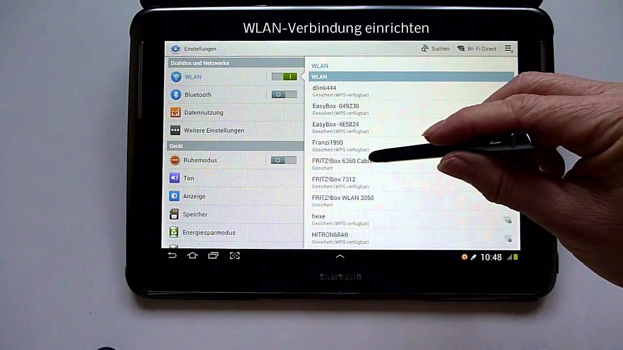 how to connect to internet with samsung tablet 10.1