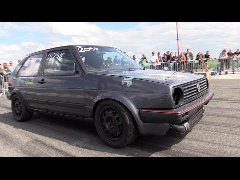 950hp vw golf 2 vr6 turbo 1 2 mile run in seconds. Black Bedroom Furniture Sets. Home Design Ideas