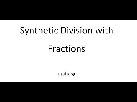 Synthetic Division with Fractions - YouTube