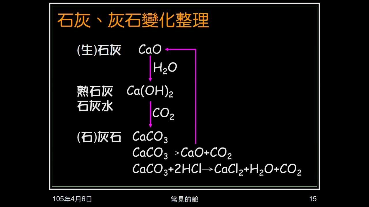 104學年國二理化_酸鹼鹽16:氫氧化鈣 - YouTube