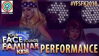 Your Face Sounds Familiar Kids 2018: Chunsa Jung & AC Bonifacio as Beyonce & Lady Gaga | Telephone