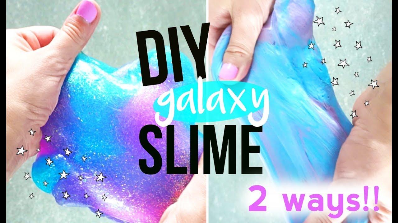 Diy Galaxy Slime Fluffy Super