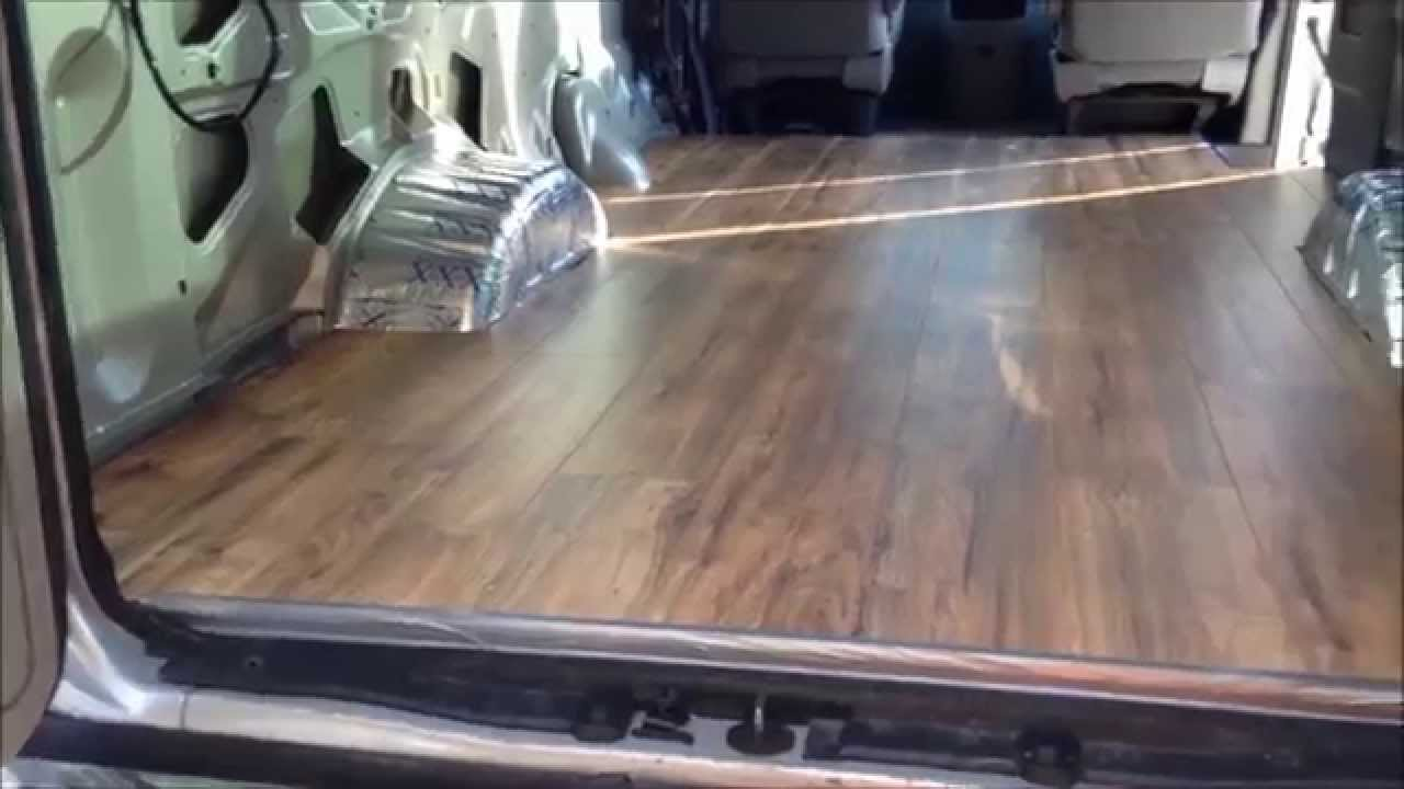 Van Build 4 Laminate Wood Flooring Install DIY Camper Conversion Life 18 Jan 2015