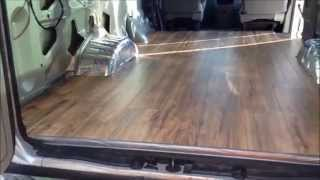 Van Build 4 Laminate Wood Flooring Install (18 Jan 2015)