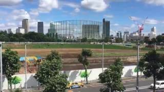 2020 Tokyo Olympic Stadium construction planned site