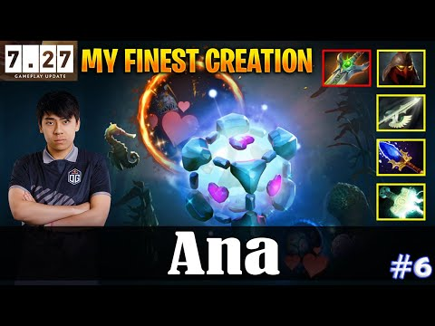 Ana - IO Offlane   MY FINEST CREATION   IO CARRY 7.27 Update Patch   Dota 2 Pro MMR Gameplay #6