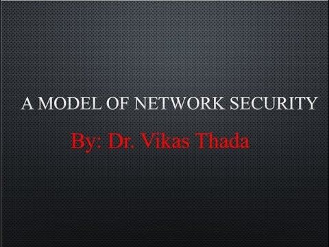 Model Of Network Security In Cryptography