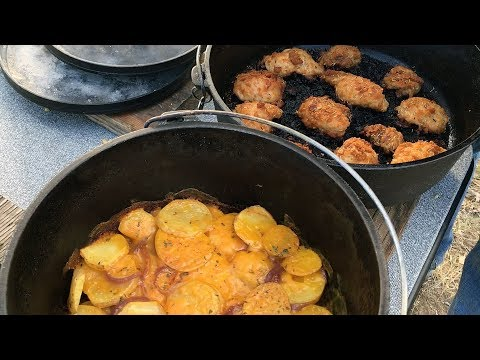 Dutch Oven Chicken & Potatoes– Outdoors With Trav