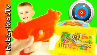 Carnival Shooting Toy Blaster! Magic Shot Magnetic Shooting Gallery Arcade Style HobbyKids