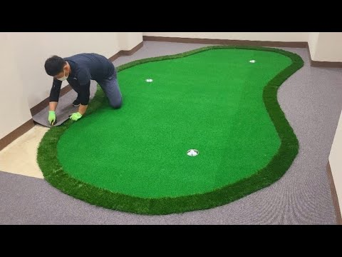 Download 폭신폭신 [카펫타일] 시공.  build an indoor golf course using tile carpets