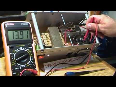 Como medir los voltajes ac y dc del cargador de baterias - Cargador de baterias ...