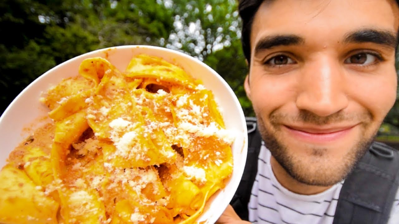 LIVING on PASTA for 24 HOURS in NYC!