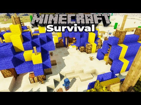 Building a Wandering Trader Camp : Minecraft 1.14 Survival let's Play : Building with fWhip S2