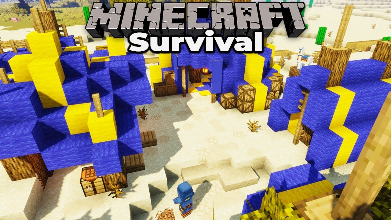 Building a Wandering Trader Camp : Minecraft 1 14 Survival let's
