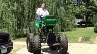 Awesome Monster Lawn Mower - Start-up and Drive