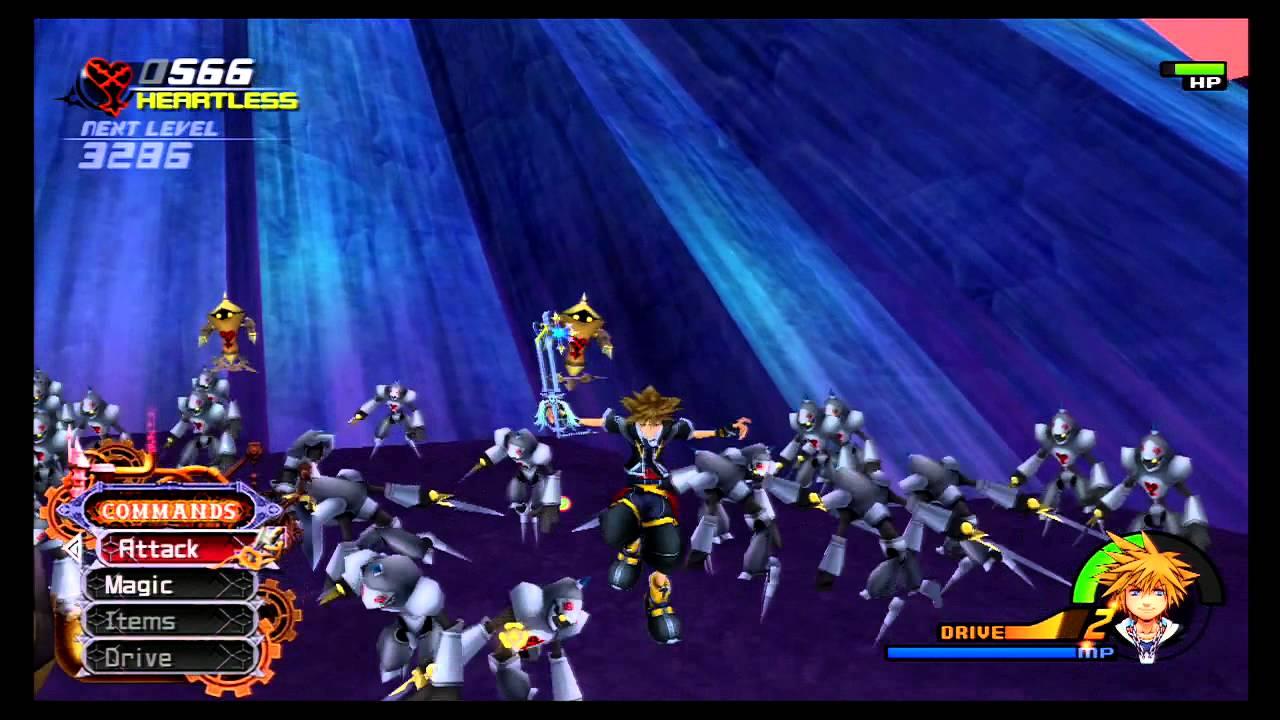 Kingdom Hearts 2 Final Mix+ | 1000 Heartless Battle (Critical Mode ...