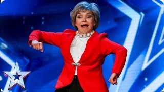 Theresa May lets loose on the BGT stage! | Auditions | BGT 2019