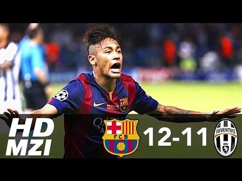 FC Barcelona 12-11 Juventus ● All Goals 1971-2015 HD 720p