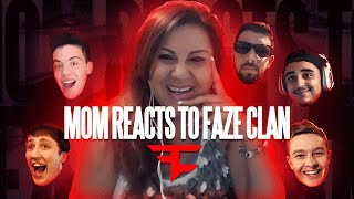 MY MOM REACTS TO FAZECLAN!! | FaZe Rug