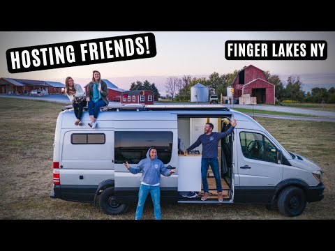 2 Days In The Finger Lakes NY - Wineries, Breweries, And Watkins Glen - Van Life Ep 3