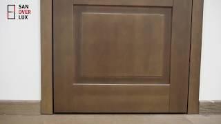 Обзор межкомнатной двери из массива сосны м213 Нео , Поставский мебельный центр - Sandverlux.by