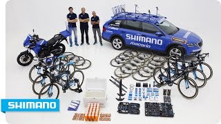 #CochesAzules: Shimano Neutral Support packing list for La Vuelta | SHIMANO