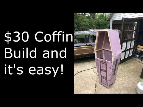 $30 Coffin Build - Halloween DIY - Sean's Spook Shack