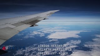 Delta DL85 Full Flight - London Heathrow to Atlanta (Boeing 767-400ER) with ATC