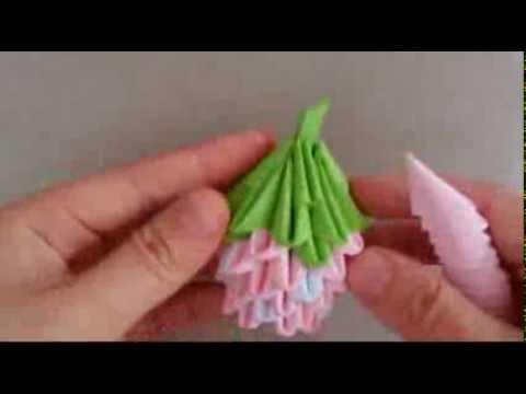 3D Origami Mini Strawberry