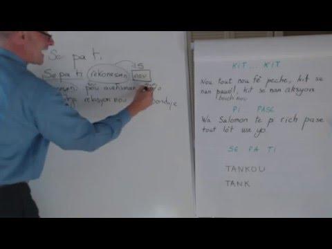 Haitian Creole lesson 10 - si 'ta', si tèlman, kit.. kit, konn