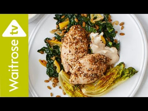 Zaatar Chicken and Freekeh with Date Yogurt | Waitrose