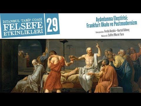 Felsefe Etkinlikleri 29: Aydınlanma Eleştirisi; Frankfurt Okulu ve Postmodernizm