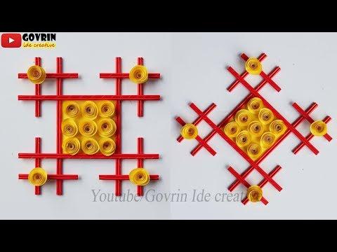 How to Make Wall Decoration Idea - Membuat Hiasan Dinding Cantik dari Kertas - Ide kerajinan