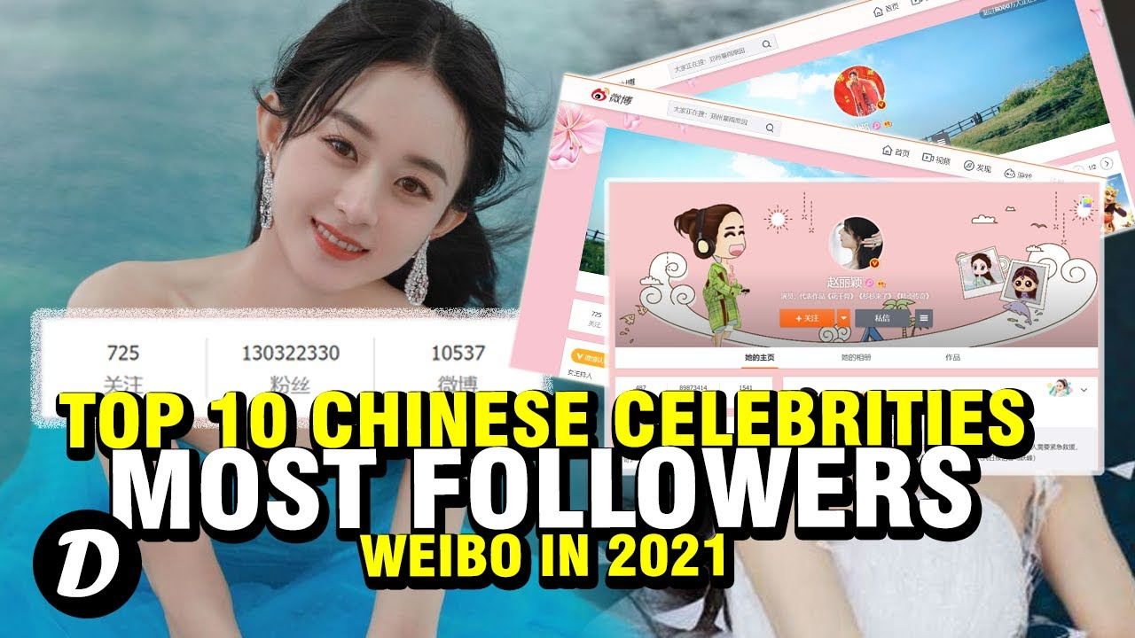 Top 10 Chinese Celebrities with the Most Followers on Weibo in 2021
