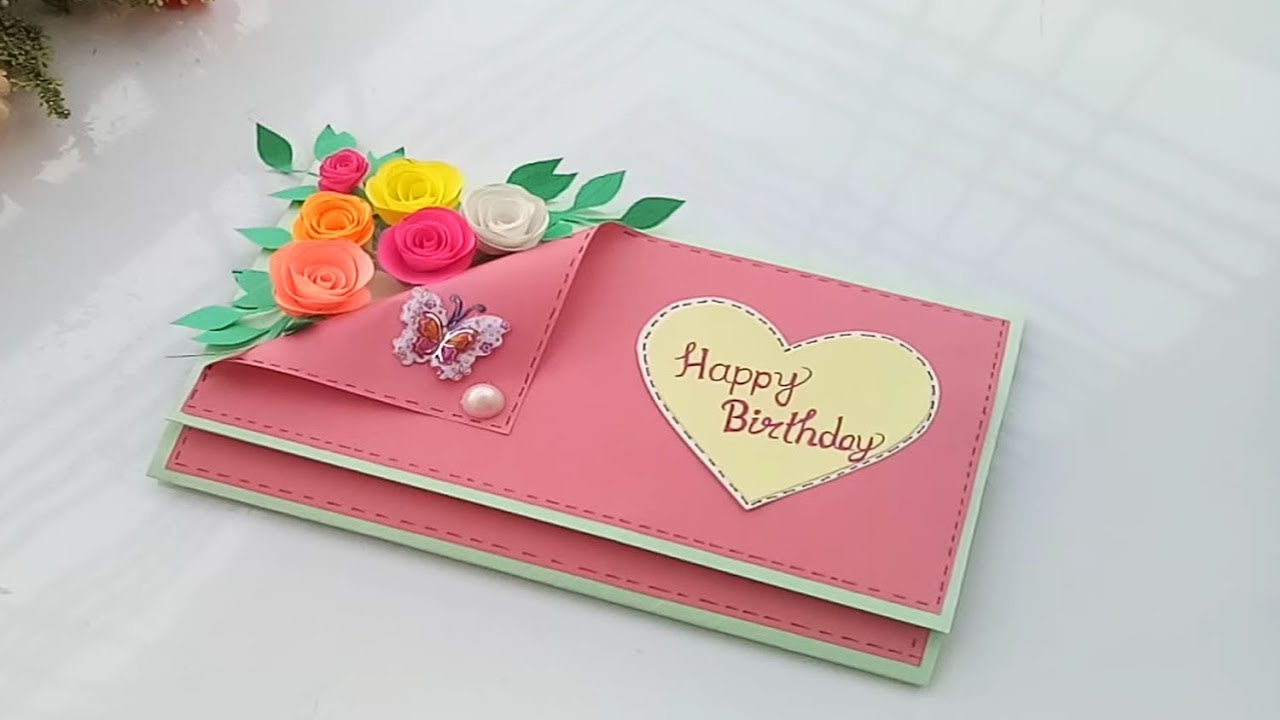 Beautiful Handmade Birthday Card//Birthday Card Idea