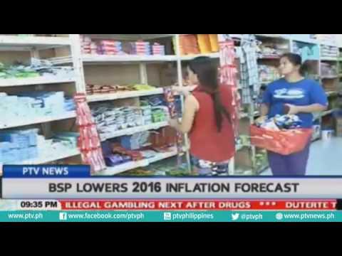 BANGKO SENTRAL NG PILIPINAS IBINABA ANG INFLATION RATE