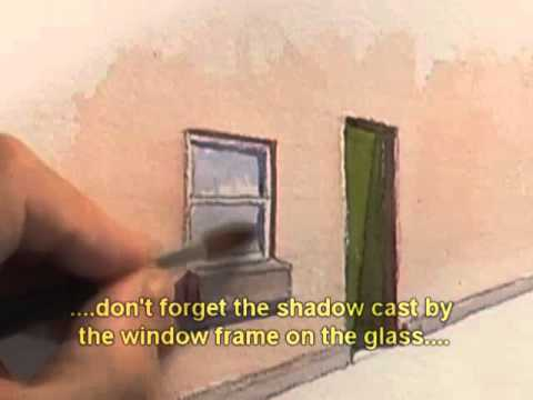 Watercolour Buildings Lesson - Easy Doors & Windows
