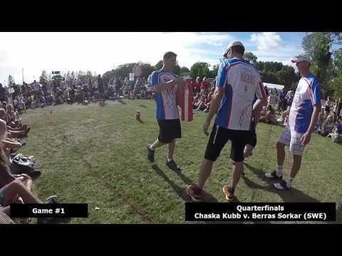 Chaska Kubb:  World Championship 2016:  Quarterfinal vs Berras Sorkar (SWE)
