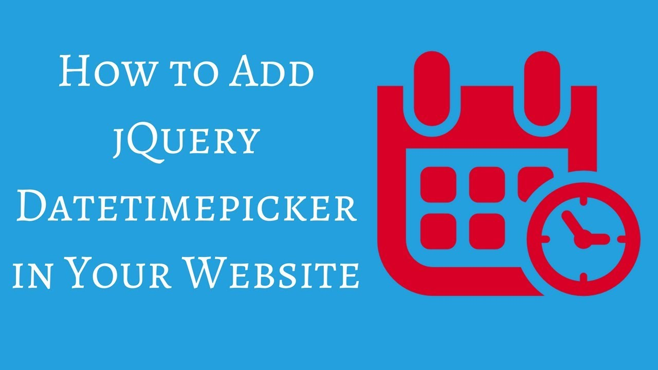 How to Implement jQuery Datepicker with Timepicker