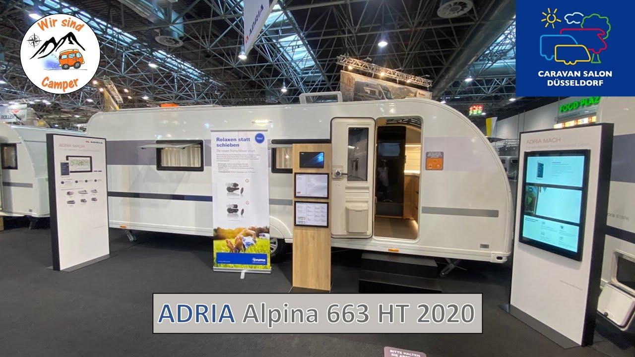Vorstellung des neuen Adria Alpina 663 HT auf dem Caravan Salon 2020