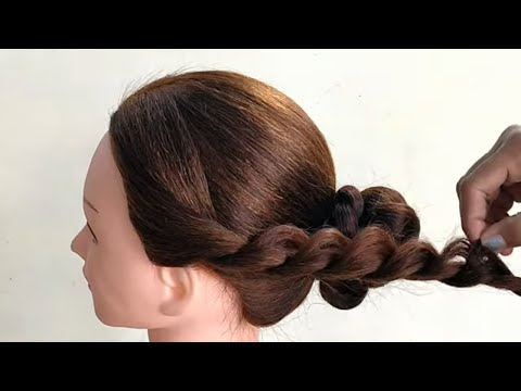 Awesome Hairstyle For Long Hair || Easy Hairstyle For Party or Wedding thumbnail