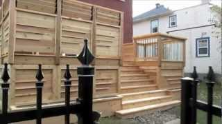 Wood Deck Design Theroux By Patios Et Clôtures Beaulieu, Dorval, Montreal, Qc.