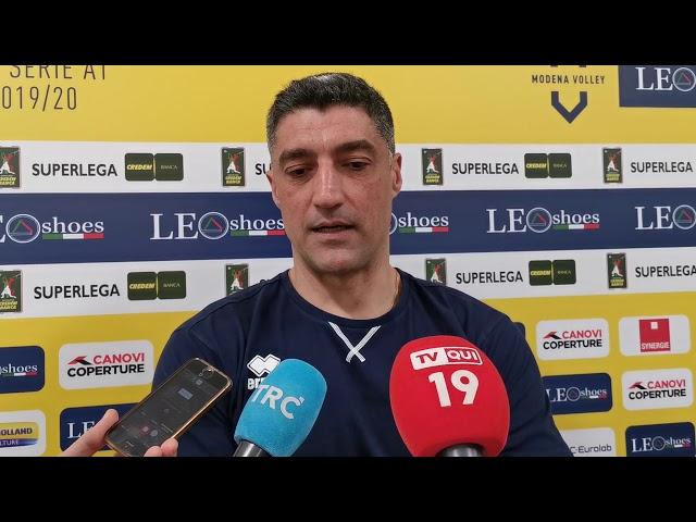 Andrea Giani in vista della semifinale di Coppa Italia