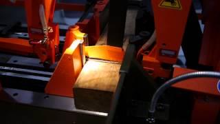 Cosen C-325nc Bandsaw Cutting 4x4 Wood
