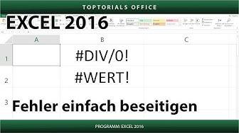 Wert & Division - Fehler beseitigen (Excel) #DIV/0! & #WERT!