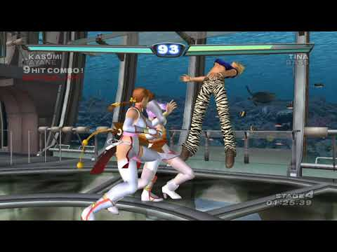 [ DEAD OR ALIVE 3 ] Tag Time Attack with Kasumi (Cos.2 Braid) and Ayane (Cos.2 X button)