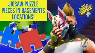 Search Jigsaw Puzzle pieces in basements LOCATIONS! FORTNITE BATTLE ROYALE!