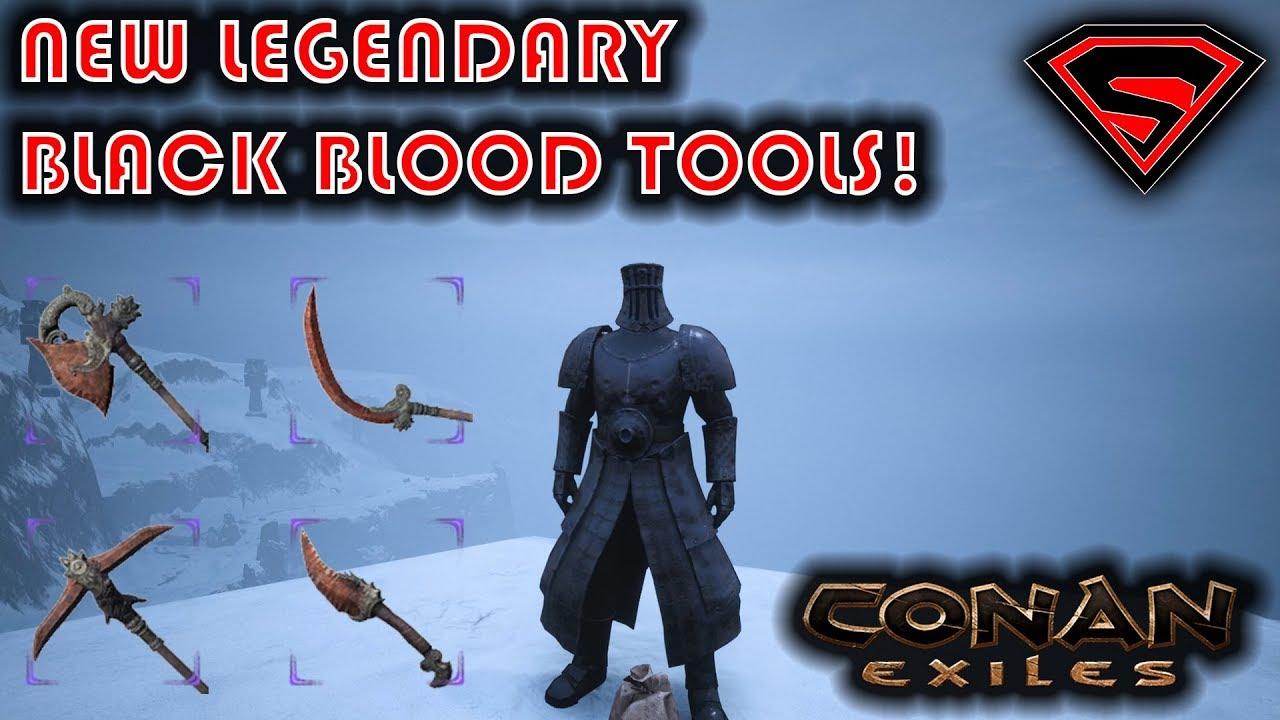 CONAN EXILES BLACK BLOOD TOOLS - NEW LEGENDARY HATCHET